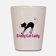 Crazy Cat Lady Shot Glass