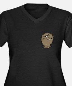 Porcupine pirate Women's Plus Size V-Neck Dark T-S