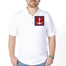Nautical Anchor - Red White and Blue T-Shirt