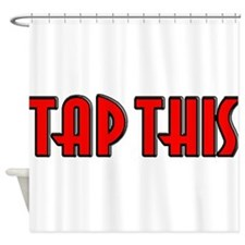 TAP RED.jpg Shower Curtain