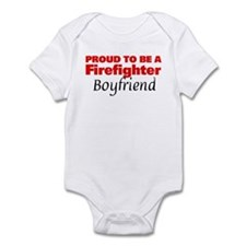 Proud Boyfriend: Firefighter Infant Bodysuit