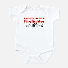 Proud Boyfriend: Firefighter Infant Bodysuit