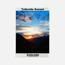 Rectangle Magnet (10) - Telluride Sunset
