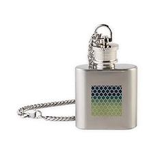 Blue Green Moroccan Lattice Flask Necklace