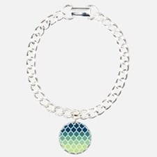Blue Green Moroccan Lattice Bracelet