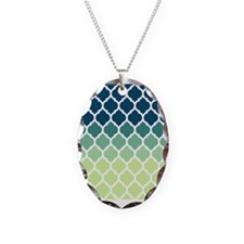Blue Green Moroccan Lattice Necklace