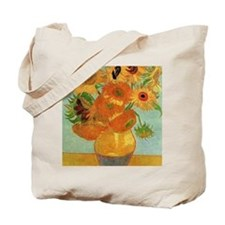 Vase with 12 Sunflowers by Vincent van Go Tote Bag