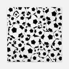 Soccer ball pattern Queen Duvet