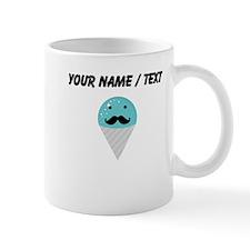 Custom Blue Snow Cone Mustache Small Mug