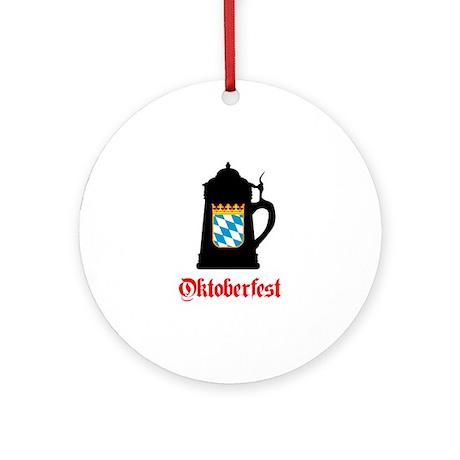Oktoberfest Beer Mug Ornament (Round)