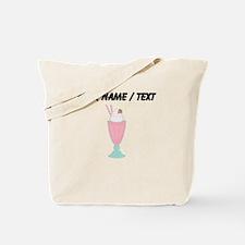 Custom Strawberry Milkshake Tote Bag