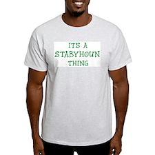 Stabyhoun thing Ash Grey T-Shirt