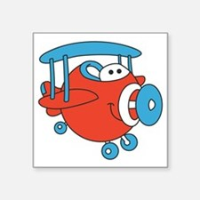 "Chubby Plane Square Sticker 3"" x 3"""