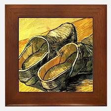 Van Gogh A Pair of Leather Clogs Framed Tile