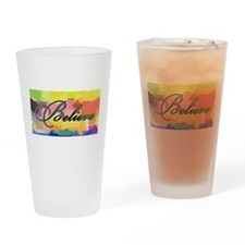 believe color chalk Drinking Glass