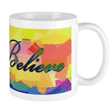 believe color chalk Small Mug