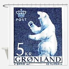 Vintage 1963 Greenland Polar Bear Postage Stamp Sh