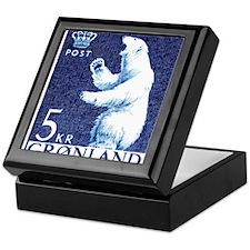 Vintage 1963 Greenland Polar Bear Postage Stamp Ke