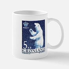 Vintage 1963 Greenland Polar Bear Postage Stamp Mu