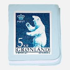 Vintage 1963 Greenland Polar Bear Postage Stamp ba