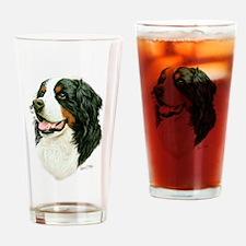 Cute Bernese mountain dog Drinking Glass