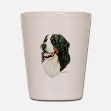 Cute Bernese mountain dog Shot Glass