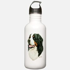 Cute Bernese mountain dog puppy Water Bottle