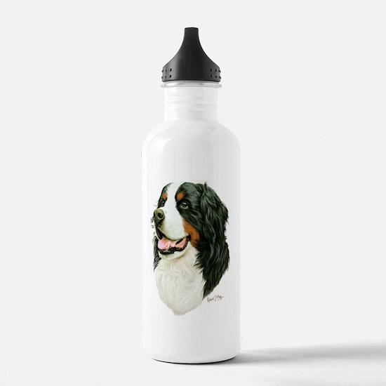 Cute Bernese mountain dog Water Bottle