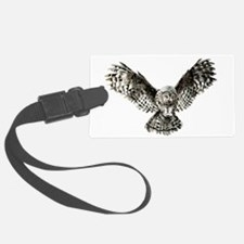 Striking Hunting Watercolor Owl Logo Luggage Tag