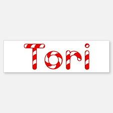 Tori - Candy Cane Bumper Bumper Bumper Sticker