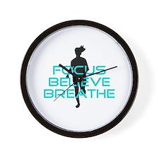 Aqua Focus Believe Breathe Wall Clock