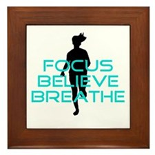 Aqua Focus Believe Breathe Framed Tile