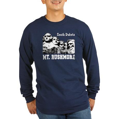 Mt. Rushmore Long Sleeve Dark T-Shirt