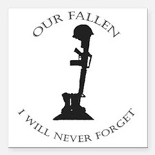 "Our Fallen Square Car Magnet 3"" x 3"""