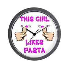 This Girl Likes Pasta Wall Clock