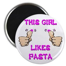 "This Girl Likes Pasta 2.25"" Magnet (10 pack)"
