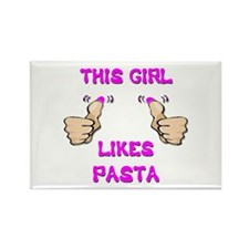 This Girl Likes Pasta Rectangle Magnet