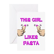 This Girl Likes Pasta Greeting Card