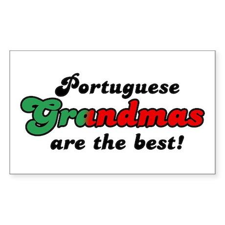 Portuguese Grandmas Rectangle Sticker