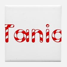 Tania - Candy Cane Tile Coaster