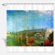 The Seine Bridge at Asnieres by Van Gogh Shower Cu