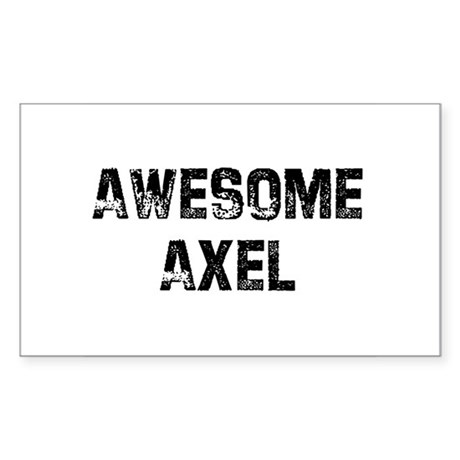 Awesome Axel Rectangle Sticker