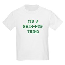 Shih-Poo thing Kids T-Shirt