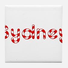 Sydney - Candy Cane Tile Coaster