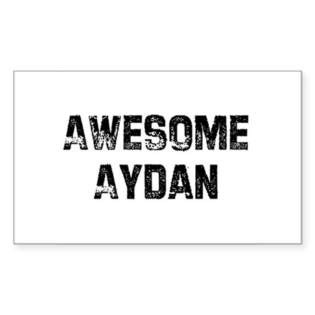 Awesome Aydan Rectangle Sticker