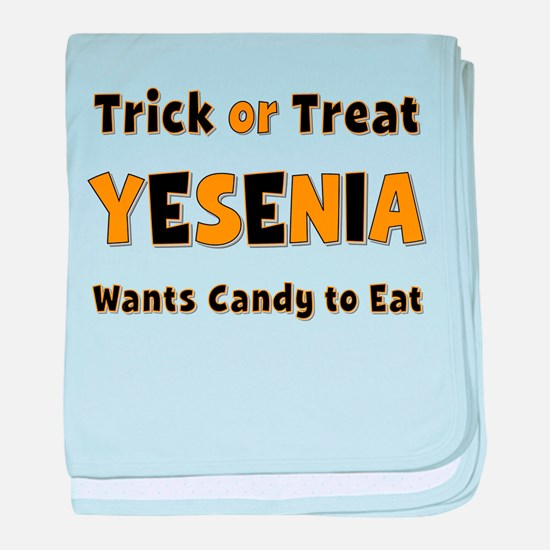Yesenia Trick or Treat baby blanket