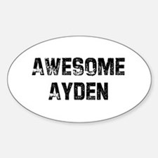 Awesome Ayden Oval Decal