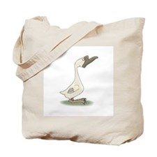 Silly White Goose Tote Bag