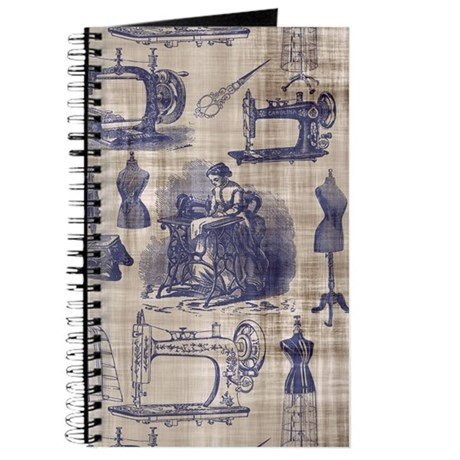 Vintage Sewing Toile Journal