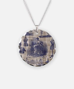 Vintage Sewing Toile Necklace